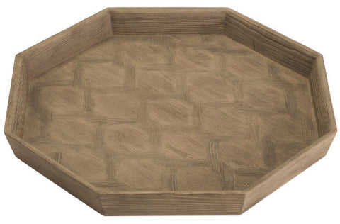 Parquet Larch Octagonal Serving Tray - Innovations Designer Home Decor