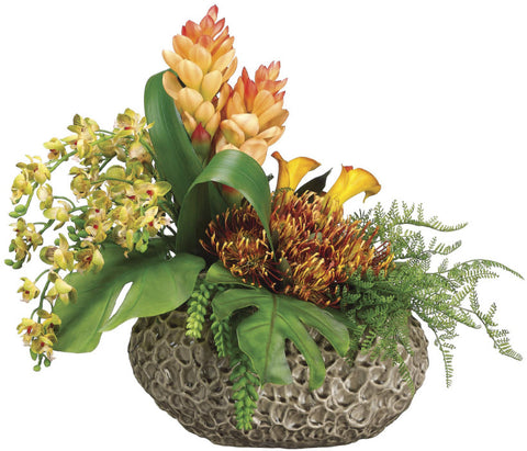 Phalaenopsis Orchids, Protea, Ginger, & Calla Lilies Floral Arrangement - Innovations Designer Home Decor