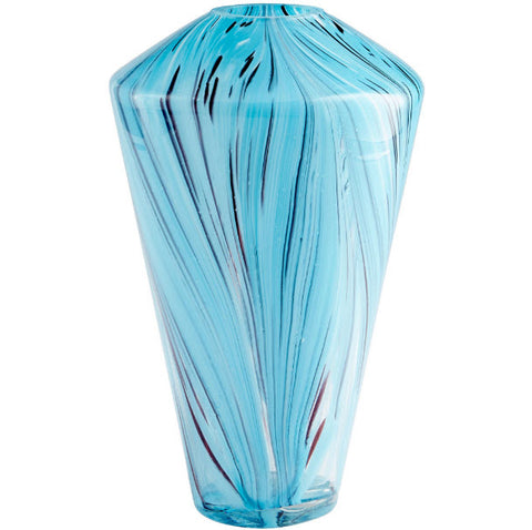 Innovations Designer Home Decor - Phoebe Contemporary Swirled Art Glass Vase