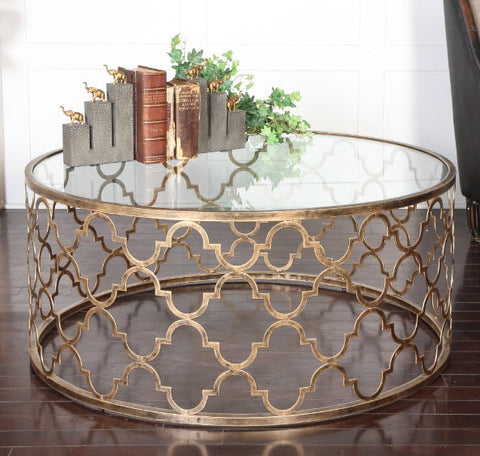 Quatrefoil Coffee Table - Innovations Designer Home Decor