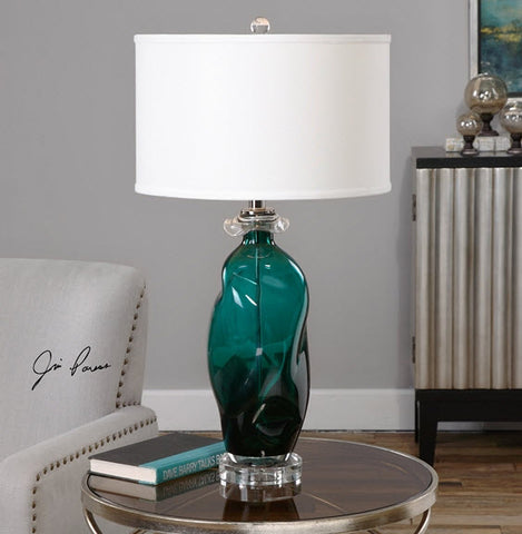 Rotaldo Blue Green Glass Table Lamp Innovations Designer Home Decor