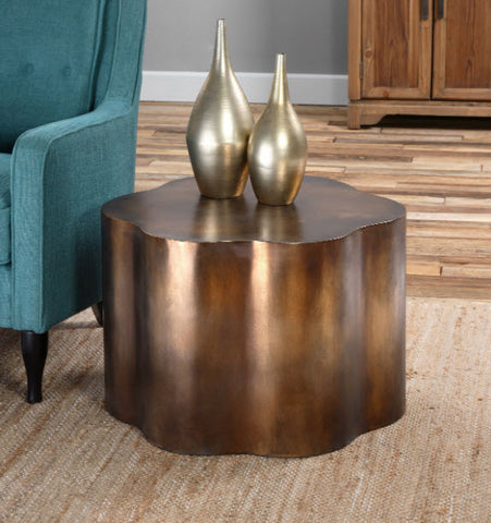 Sameya Oxidized Copper Accent Table - Innovations Designer Home Decor