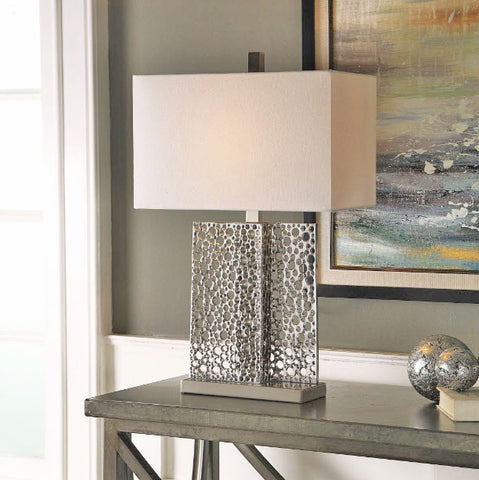 Sicero Polished Silver Table Lamp - Innovations Designer Home Decor