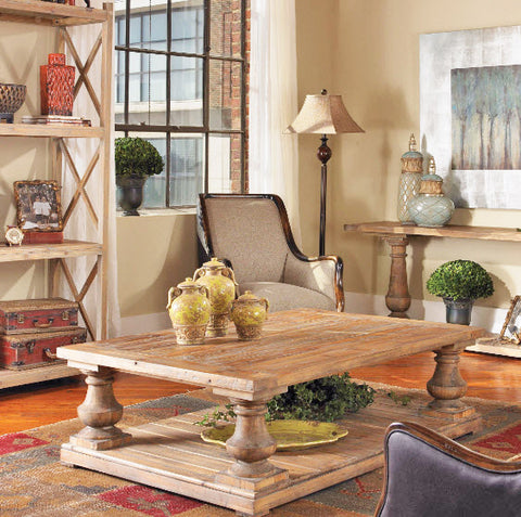 Stratford Rustic Reclaimed Wood Coffee Table - Innovations Designer Home Decor