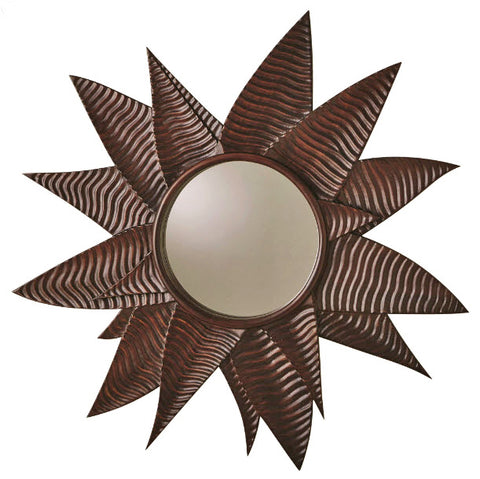 Succulent Contemporary Decorative Round Wall Mirror - Innovations Designer Home Decor