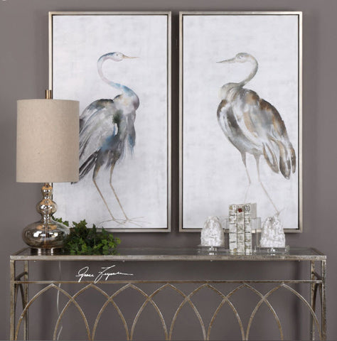 Summer Birds Hand Painted Framed Art, Set of 2 - Innovations Designer Home Decor