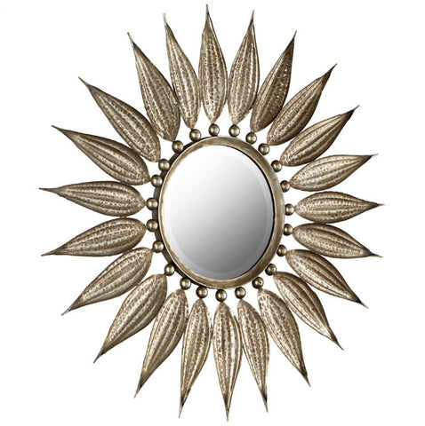 Sunflower Reflections Starburst Round Wall Mirror - Innovations Designer Home Decor
