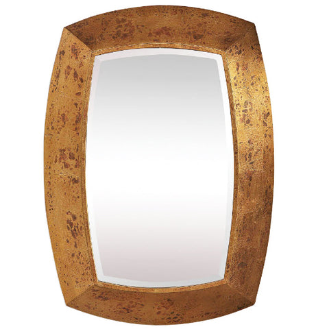 Syrah Contemporary Oxidized Antique Gold Leaf Wall Mirror - Innovations Designer Home Decor