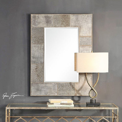 Taelon Antiqued Mirror and Tarnished Silver Wall Mirror - Innovations Designer Home Decor