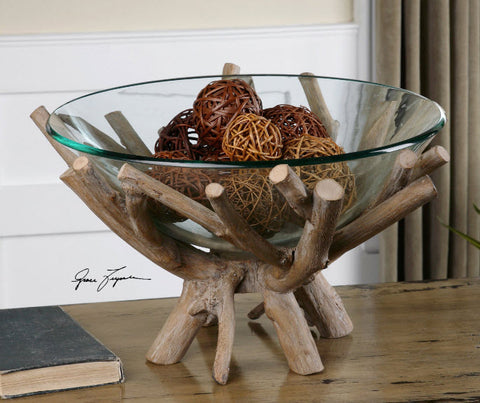Thoro Wood Decorative Bowl