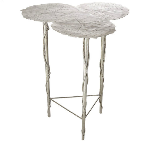Trois Lily Pad Antique Nickel Accent Table - Innovations Designer Home Decor