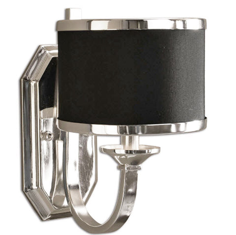 Tuxedo Black & Silver Wall Sconce - Innovations Designer Home Decor