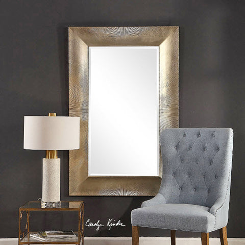 Valenton Large Scale Warm Champagne Wall Mirror - Innovations Designer Home Decor