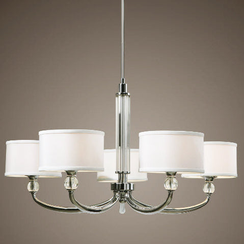 Vanalden Contemporary Chrome Chandelier - Innovations Designer Home Decor