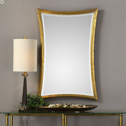 Vermejo Scalloped Gold Leaf Wall Mirror - Innovations Designer Home Decor