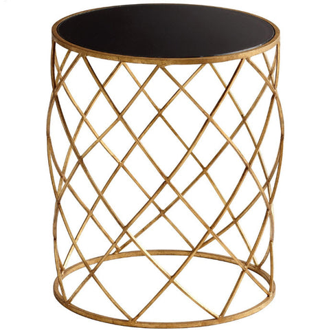 Wimbley Gold Round Accent Table - Innovations Designer Home Decor