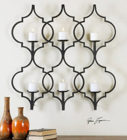 Zakaria Metal Candle Wall Sconce - Innovations Designer Home Decor