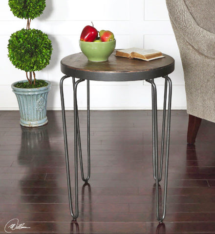 Stelios Burnt Silver U0026 Honey Round Accent Table   Innovations Designer Home  Decor