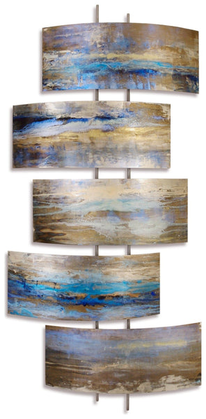 Serenity Contemporary Metal Wall Sculpture