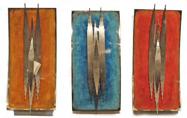 Enduring Contemporary Wall Sculpture, 3-Piece Set