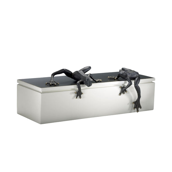 Iron Frogs Sculptures, 2-Piece Set