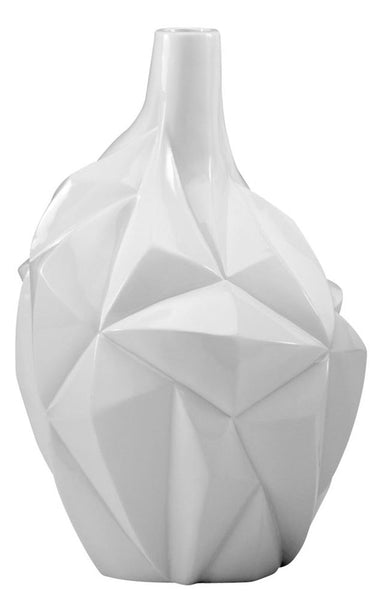 Medium Glacier Contemporary Gloss White Vase