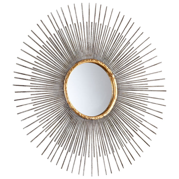 Small Pixley Starburst Round Framed Wall Mirror
