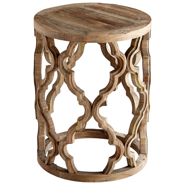 Sirah Black Forest Grove Quatrefoil Round Accent Table