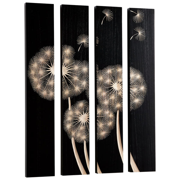Float On Wood Carved Wall Art, 4-Piece Set by Cyan Design