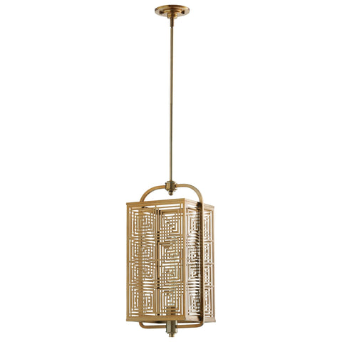 Allison Transitional Satin Brass 1-Light Pendant Lighting Fixture, Large by Cyan Design