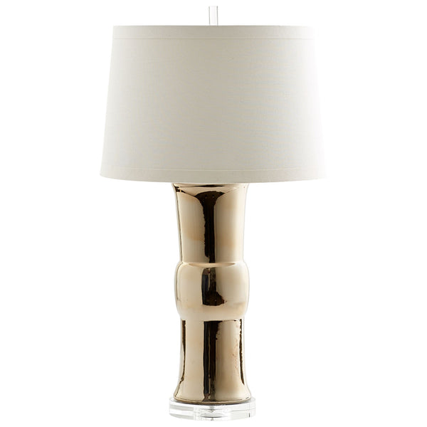 Elina Contemporary Burnished Gold Ceramic Table Lamp