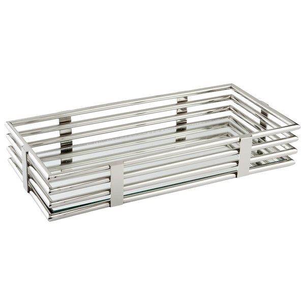Rectangular Layers Of Meaning Stainless Steel Mirrored Decorative Tray