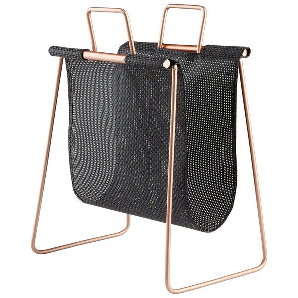 Handle It Black Mesh Magazine Rack