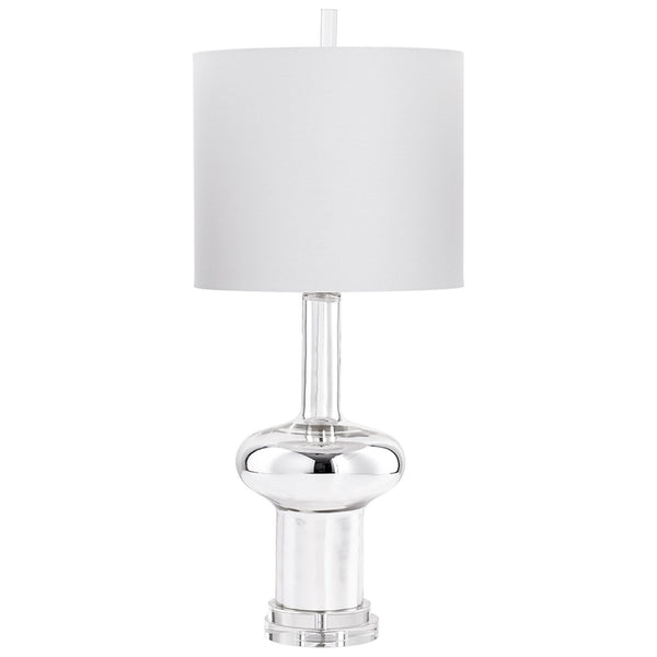 Moonraker Transitional Nickel Glass Table Lamp