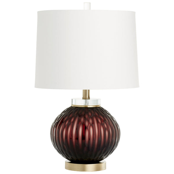 Denley Contemporary Purple Glass Accent Lamp