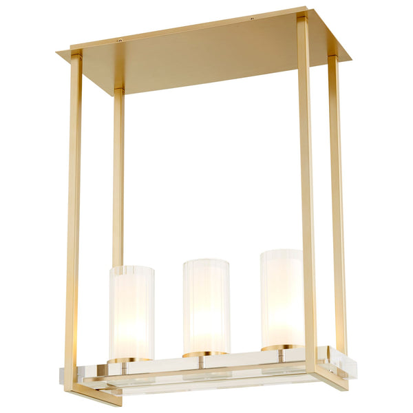 Orion 3-Light Contemporary Aged Brass Pendant Lighting Fixture