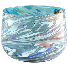 Wanaka Small Round Art Glass Vase by Cyan Design