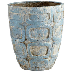 Naples Medium Antique Blue Cement Rustic Decorative Planter by Cyan Design