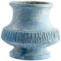 Marina Bay Small Antique Blue Rustic Cement Planter by Cyan Design