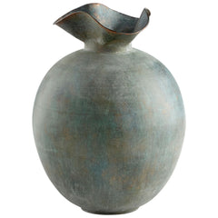 Pluto Medium Gold Patina Iron Vase by Cyan Design