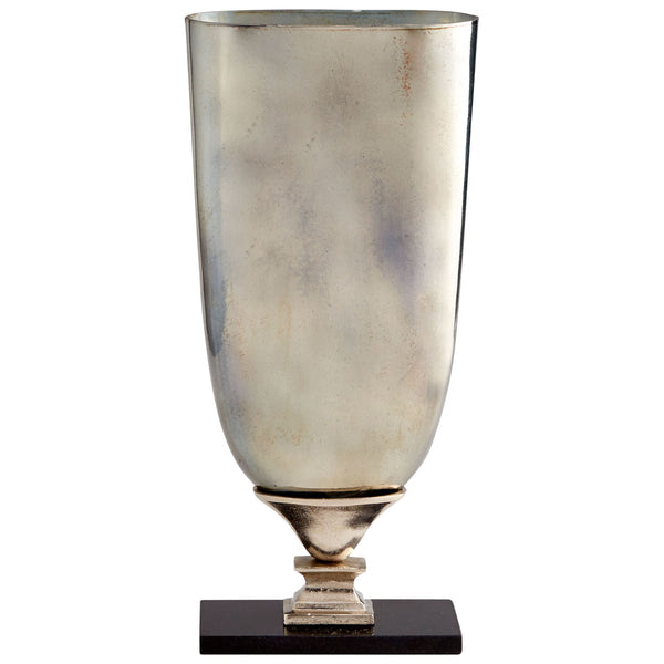 Chalice Large Nickel and Verdi Glass Vase