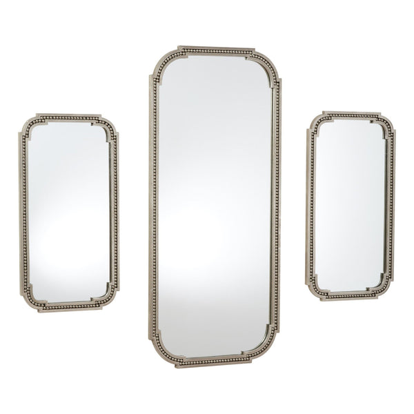 Forged Pearl Nickel Wall Mirror, Small
