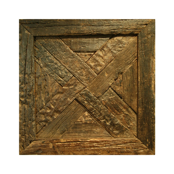 Deer Valley Square Distressed Wood Decorative Panel