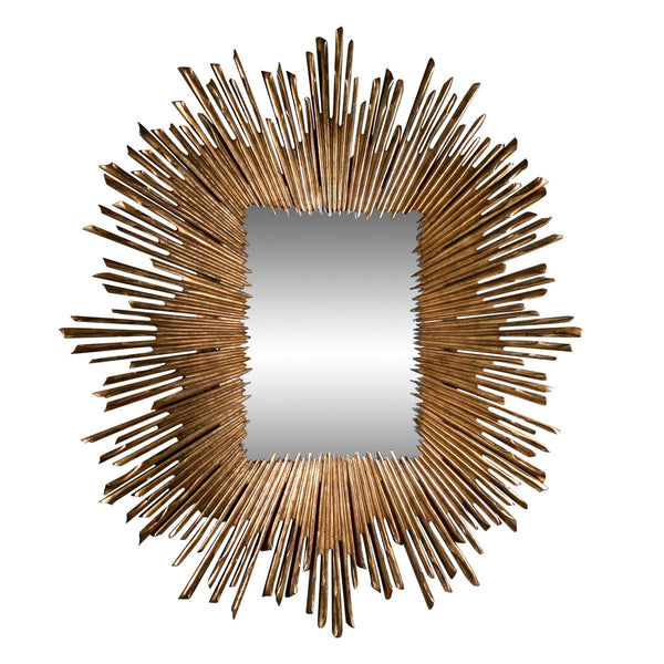 Soleil Gold Leaf Framed Wall Mirror