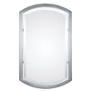 Jacklyn Contemporary Polished Chrome Arched Wall Mirror