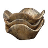 Tamarind Rustic Wood Decorative Bowls, 3-Piece Set