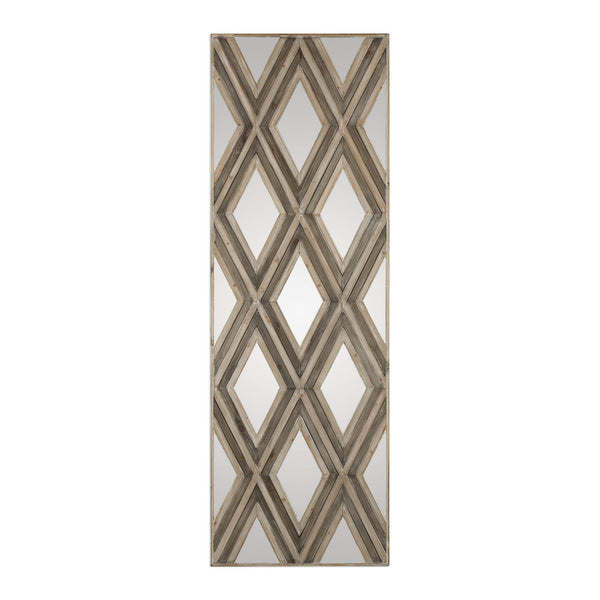 Tahira Geometric Argyle Pattern Large Scale Wall Mirror by Uttermost