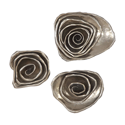 Amalie Metal Spiral Wall Decor, S/3 by Uttermost