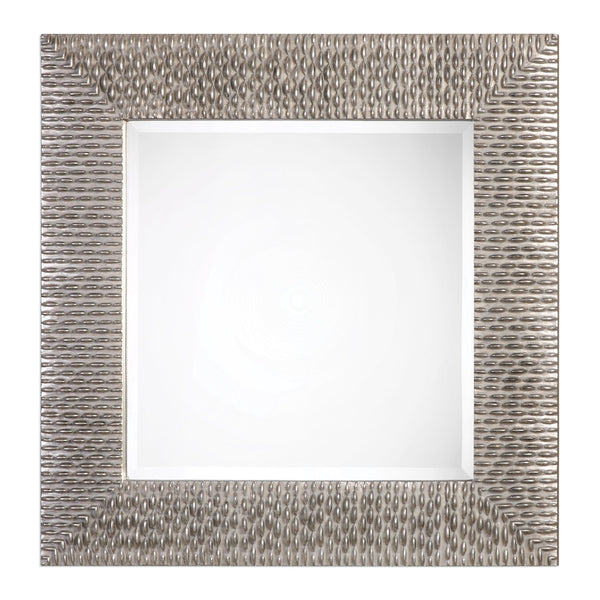 Cressida Distressed Silver Square Wall Mirror by Uttermost