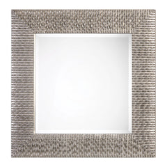 Cressida Distressed Silver Square Mirror by Uttermost